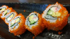 Menu do rolo do japonês do sushi Foto de Stock