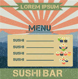 Menu do sushi Foto de Stock Royalty Free