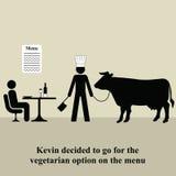 Menu do vegetariano Imagens de Stock Royalty Free