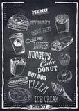Menu do vetor do Fastfood Imagem de Stock Royalty Free