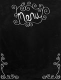 Menu Doodle Chalkboard Border Royalty Free Stock Photo
