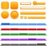 menu e tasto di Web site Fotografia Stock