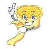 With menu egg tart mascot cartoon. Vector illustration Royalty Free Stock Image