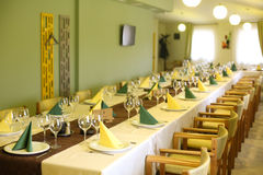 Menu elegante del ristorante di nozze della tavola di cena Fotografie Stock Libere da Diritti