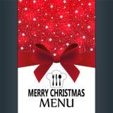 Menu especial do Natal Imagem de Stock