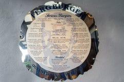 Menu Fergburger w Queenstown, Nowa Zelandia Zdjęcia Stock
