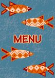 Menu - Fish Stock Photo