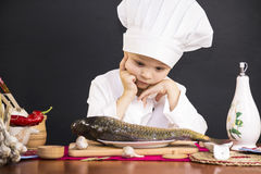 Menu of fish Stock Photography