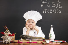 Menu of fish Royalty Free Stock Photos