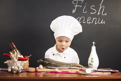 Menu of fish Stock Images