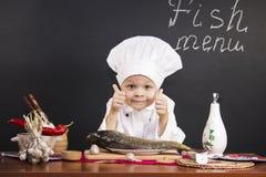Menu of fish Stock Image