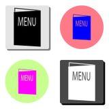 Menu. flat vector icon stock illustration