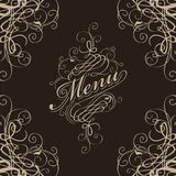 Menu with a flourish Stock Photo