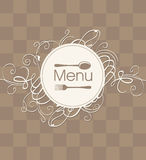 Menu with a flourish Stock Photos