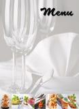 Menu - food collage. Menu cover design - food collage Royalty Free Stock Photo