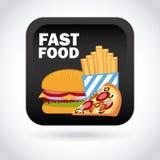 Menu and Food design Stock Image