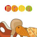 Menu and Food design Royalty Free Stock Image
