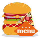 Menu and Food design Royalty Free Stock Photography