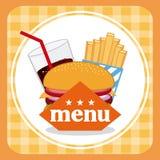 Menu and Food design Stock Photography