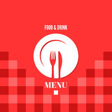 Menu food and drink design Stock Image