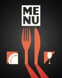 Menu food and drink design Stock Image