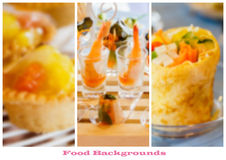 Menu food pages template Royalty Free Stock Images