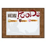 Menu food restaurant template design hand drawing graphic Royalty Free Stock Photography