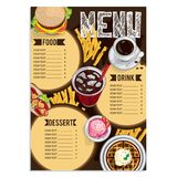 Menu food restaurant template design hand drawing graphic Royalty Free Stock Photo