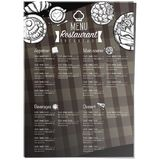 Menu food restaurant template design hand drawing graphic Royalty Free Stock Images