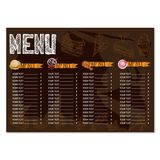 Menu food restaurant template design hand drawing graphic Stock Photography