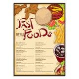 Menu food restaurant template design hand drawing graphic Stock Photo