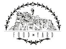 Menu food yard Royalty Free Stock Photography