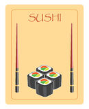 Menu For Sushi And Rolls Royalty Free Stock Image