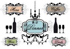 Menu frames for restaurant Royalty Free Stock Photos