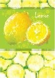 Menu fresco del limone Fotografie Stock Libere da Diritti
