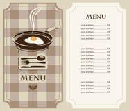 Menu fried eggs Stock Image