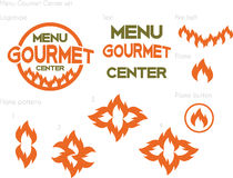 Menu gastronomisch centrum Stock Foto's
