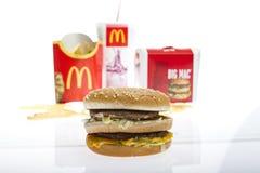 Menu grande do Mac de McDonalds fotos de stock