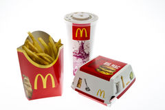 Menu grande do Mac de McDonalds Fotografia de Stock
