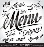 Menu headlines set (vector) Stock Images