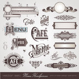 Menu headpieces. Panels and ornate design elements Stock Image