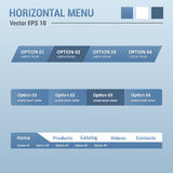 Menu horizontal Imagem de Stock Royalty Free