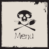 Menu with a human skull Stock Photography