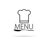 Menu icon art black vector. Menu icon vector illustration on a white background Stock Images