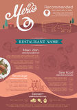 Menu and icon design restaurant. Royalty Free Stock Photos