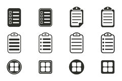 Menu icon set. Menu vector icons set. Black illustration isolated on white background for graphic and web design royalty free illustration