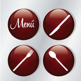 Menu Icons Royalty Free Stock Photography