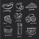 Menu Icons Royalty Free Stock Image