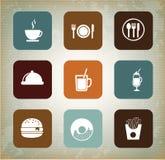Menu icons Stock Photography