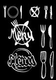Menu icons Stock Photos